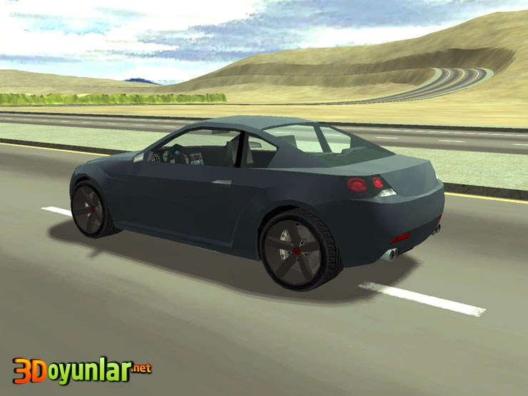 3D araba Similasyonu Chevrolet Spor Coupe