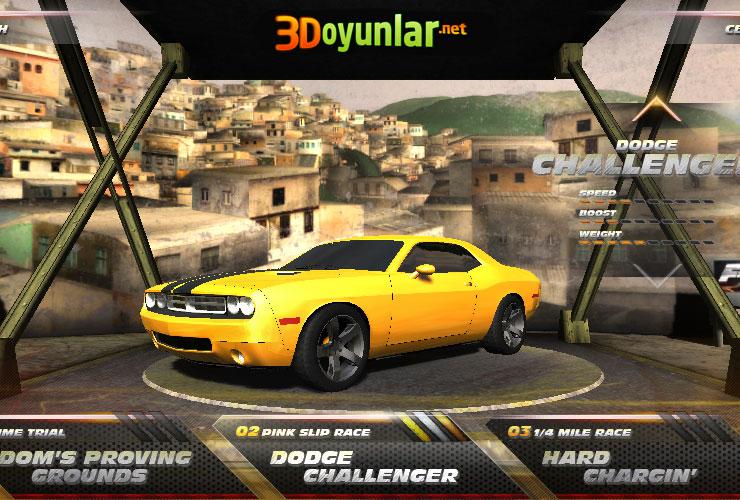 New Dodge Challenger >> 3D Hızlı ve Öfkeli Oyunu - 3D Yarış Oyunları Oyna