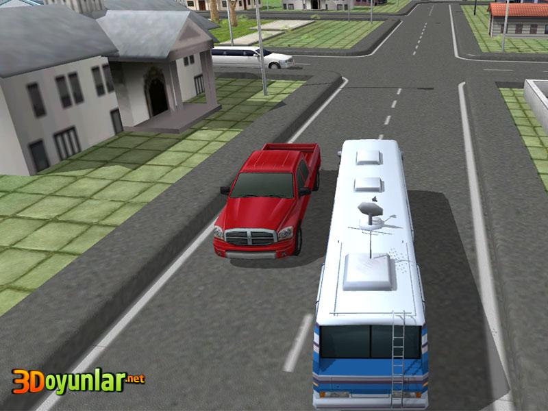 3d okul otobüsü park etme oyunu - 3d araba oyunları oyna