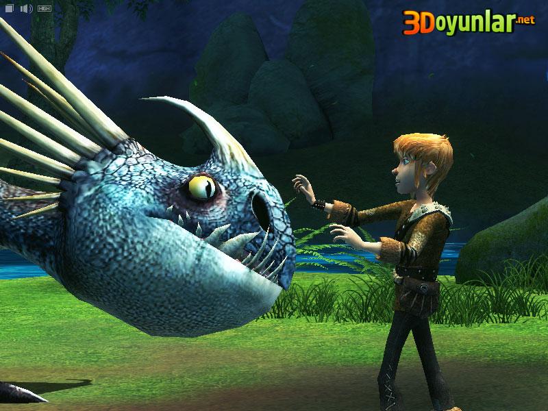 3D Oyunlar › 3D Macera › Ejderhanı Nasıl Eğitirsin Oyunu
