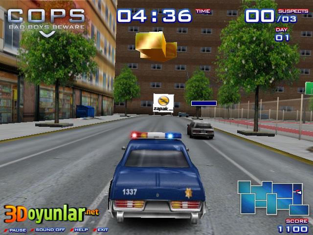 3d oyunlar 3d araba hırsız polis 2 oyunu