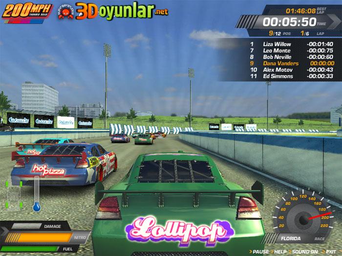 Maksimum hız araba yarışı oyunu
